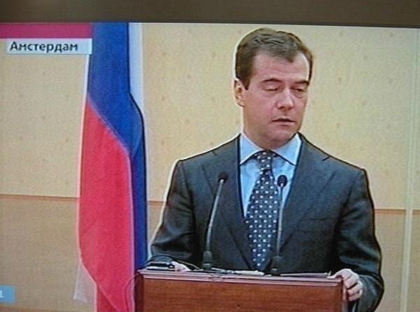 Медведев в Амстердаме