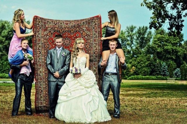 Настоящее свадебное фото