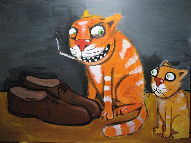 Коты и тапки