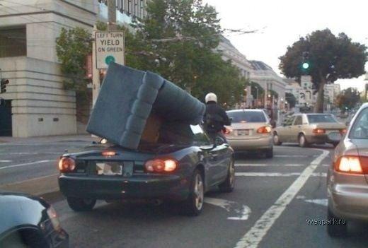 Диван в кабриолете
