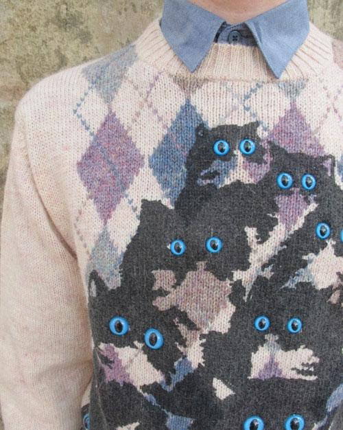 Кошки на одёжке