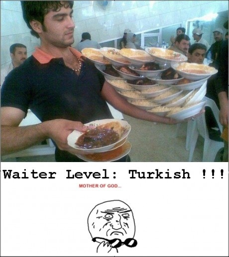 Официант из Турции