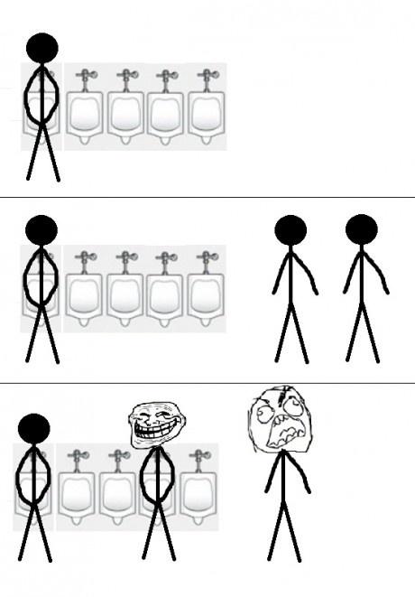 Троллинг в туалете