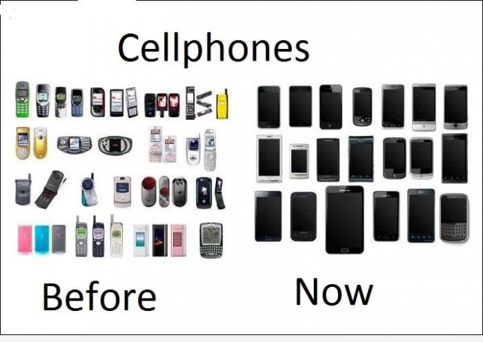 Телефоны: раньше и сейчас