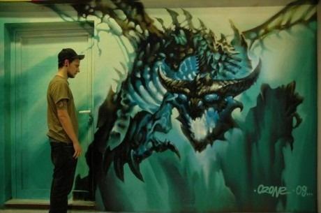 Мега граффити дракона