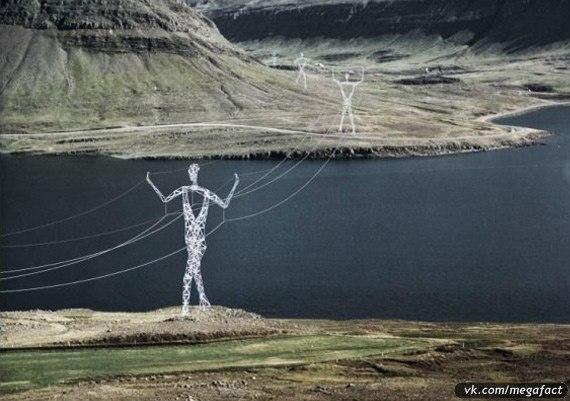 Креативные электрические столбы