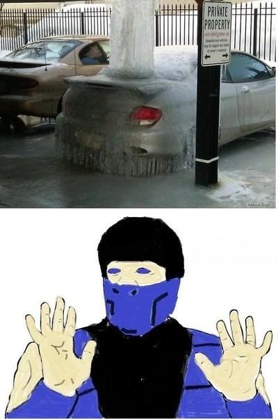 На парковке