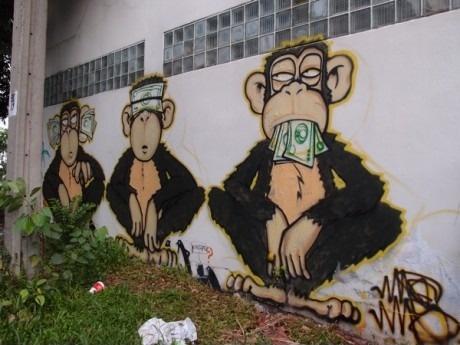 Граффити с обезьянами
