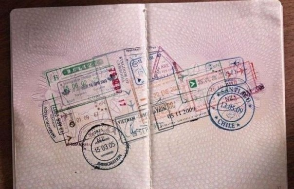 Джип из печатей в паспорте
