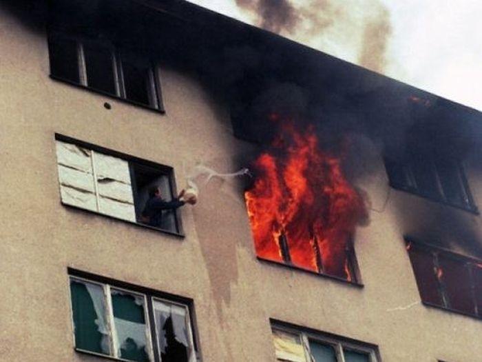 Тушим пожар