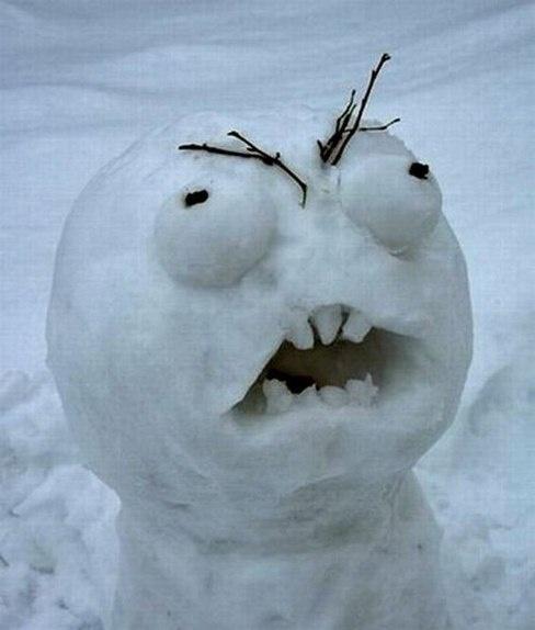 Снеговик нашего времени