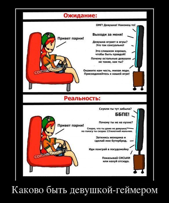 Девушка-геймер