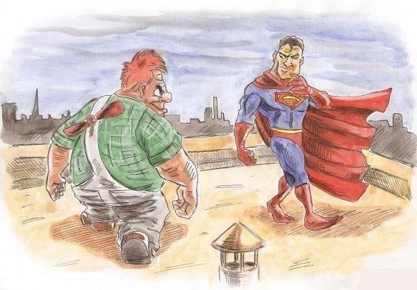 Супермен против карлсона