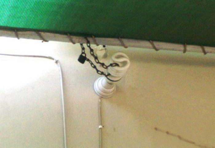 Лампочка на привязи
