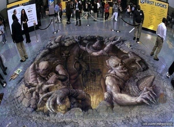 Рисунок на полу