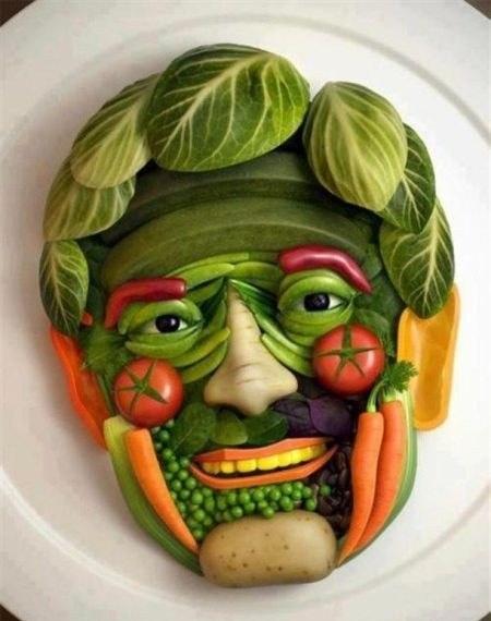 Лицо из овощей