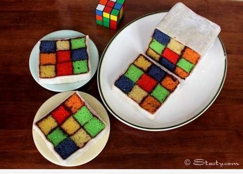 Кекс кубика рубика