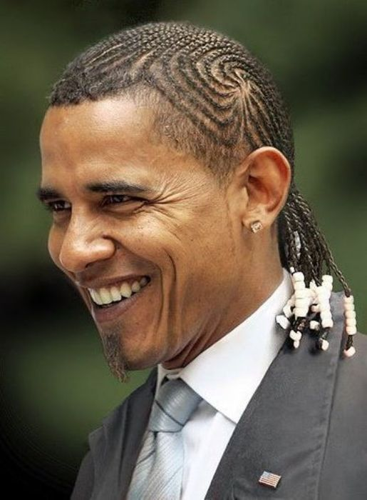 Обама с афрокосичками