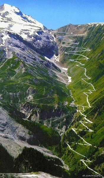 Серпантин в горах