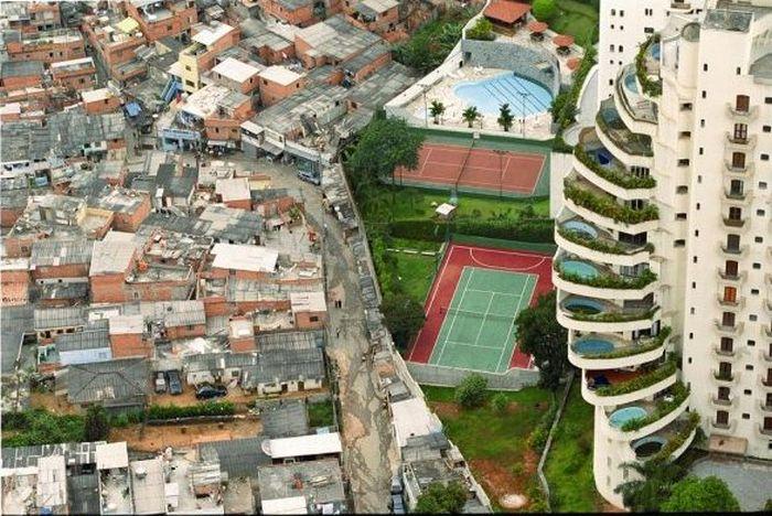 Бедный и богатый районы