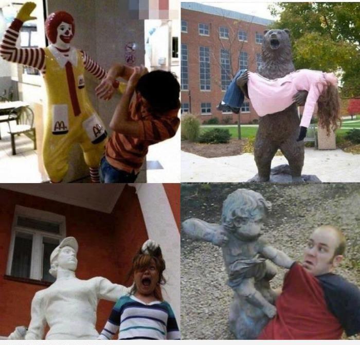 Злые скульптуры