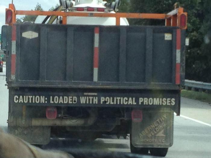 Загружено политическими обещаниями