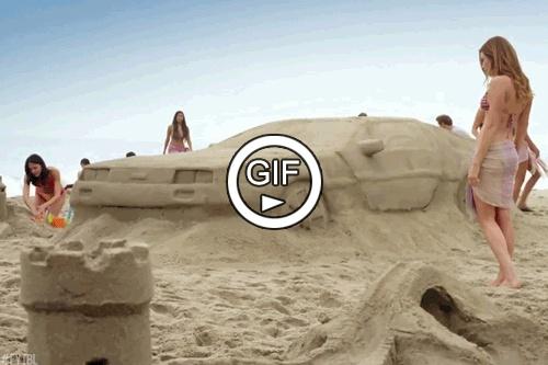 Машина из песка