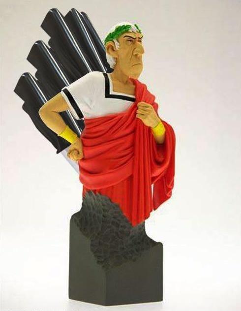 Подставка для ножей: Цезарь