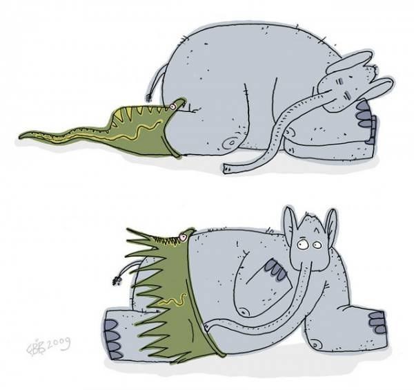 Змея и слон
