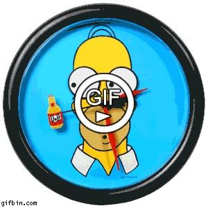 Часы с Гомером