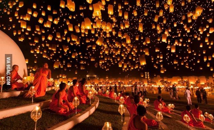 Фестиваль огней в Тайланде