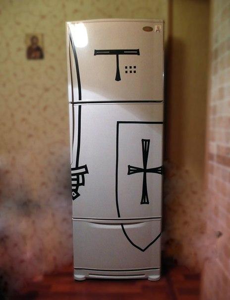 Боевая раскраска холодильника
