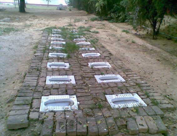 Общественные туалеты в Индии