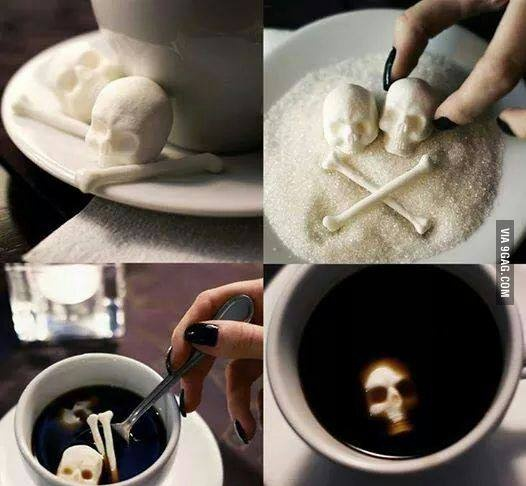 Сахар в форме черепа