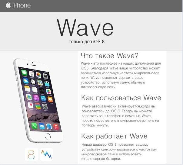 iOS8 Wave