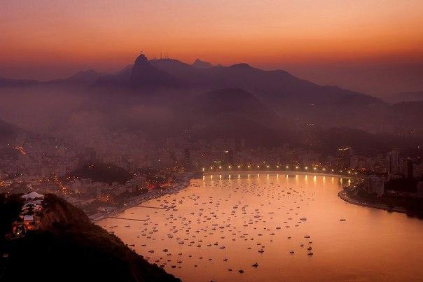 Закат в Рио-де-Жанейро