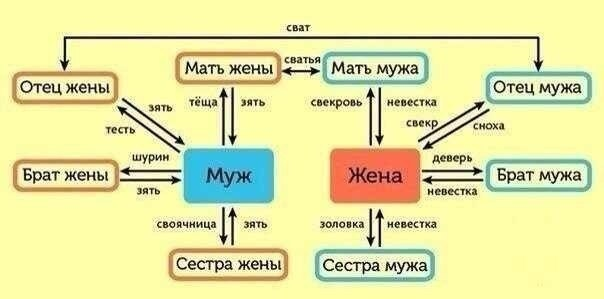 Диаграмма семейных названий