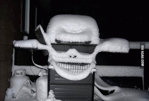 Снег на грилле