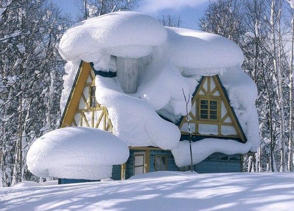 Снежный день в Японии