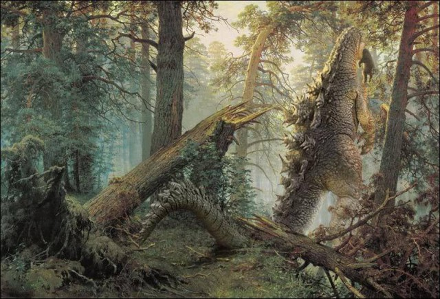 Сосновый лес юрского периода