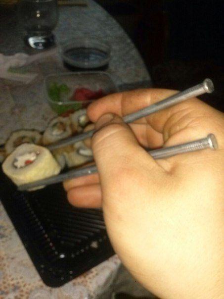 Как есть суши дома