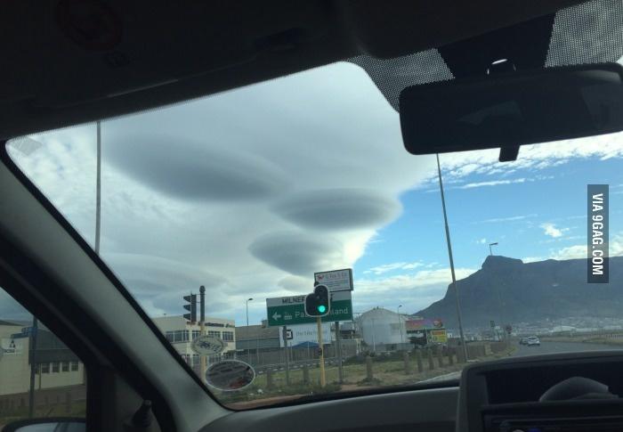 Загадочные облака в ЮАР