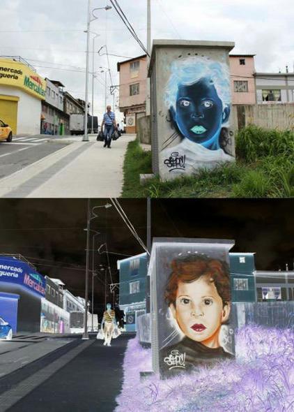 Негативное граффити